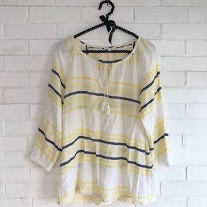 Joie Legaspi Yellow Striped Cotton Tunic
